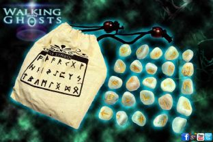 Aventurine Crystal Runes Ancient Stone Divination Clairvoyant Psychic Paranormal